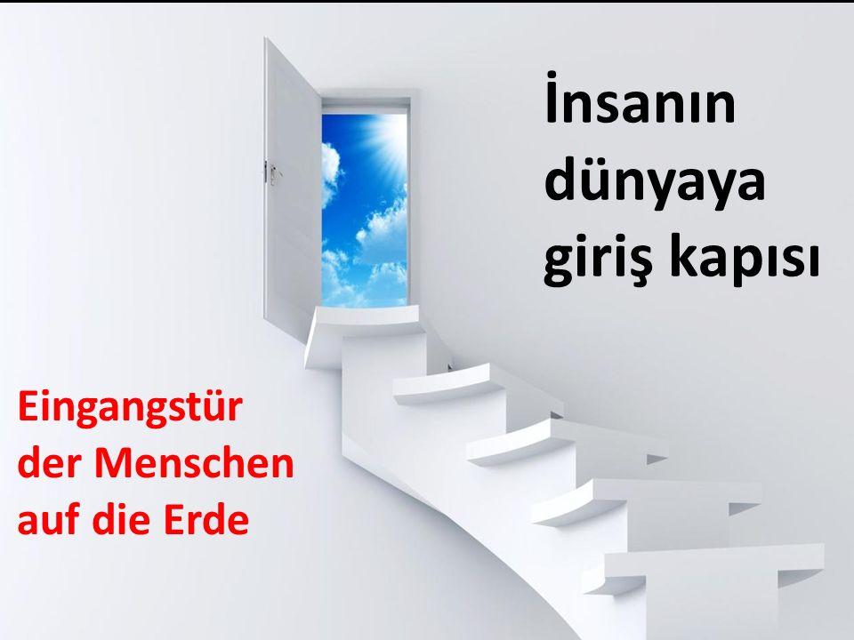 İnsanın dünyaya giriş kapısı Eingangstür der Menschen auf die Erde