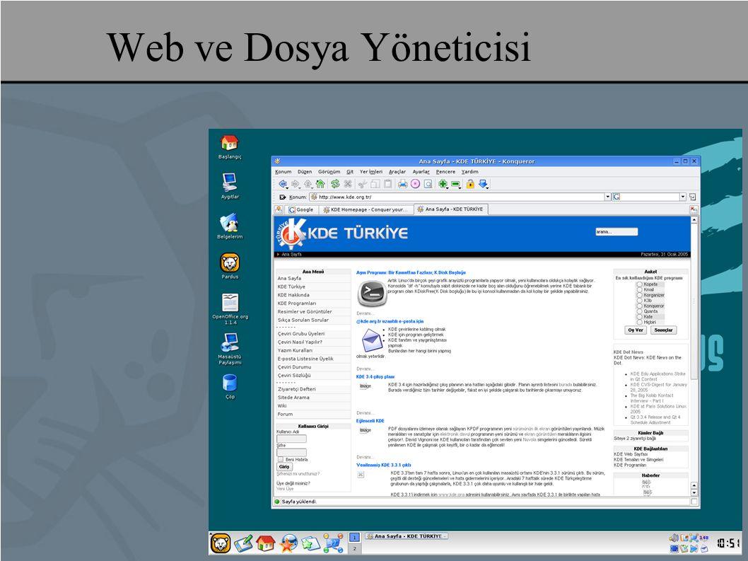 Web ve Dosya Yöneticisi
