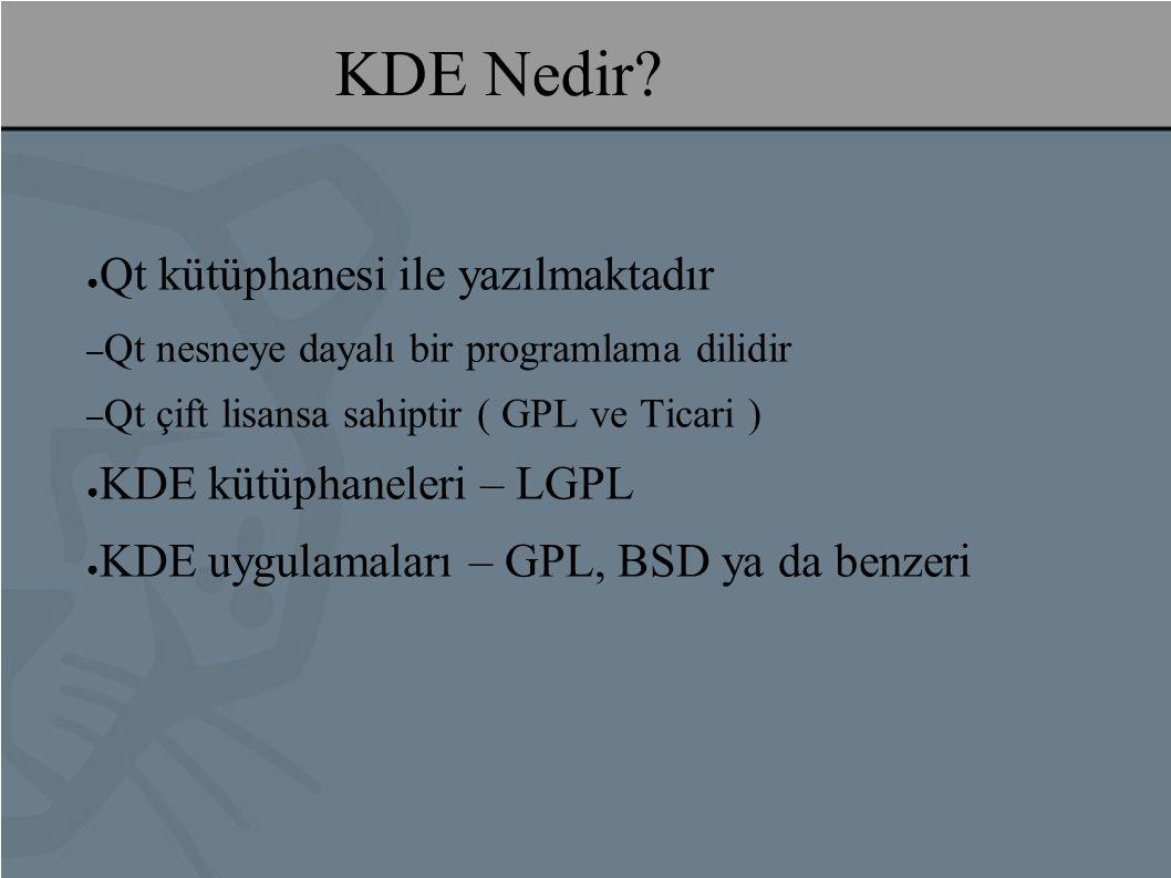 KDE Nedir.