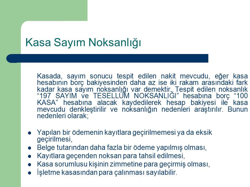Örnek: Daha önce satıcı Ahmet Korkmaz lehine keşide edilerek verilmiş bulunan 140.000 TL.
