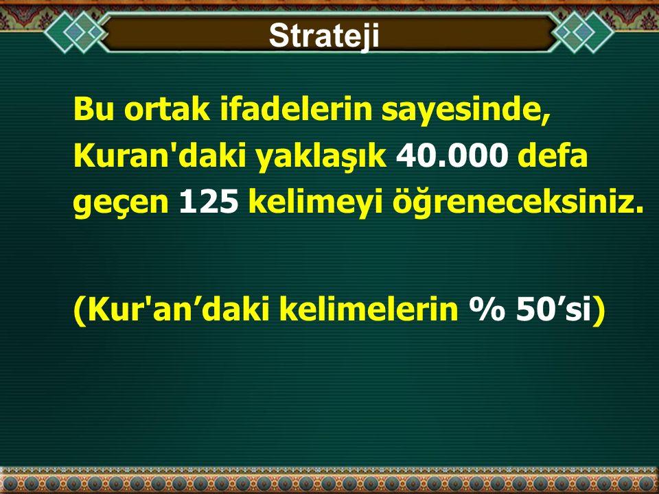 Kur'an'dan Örnek Sayfa Kırmızı renk bu dersteki kelimeleri gösterir (yaklaşık % 50'si)