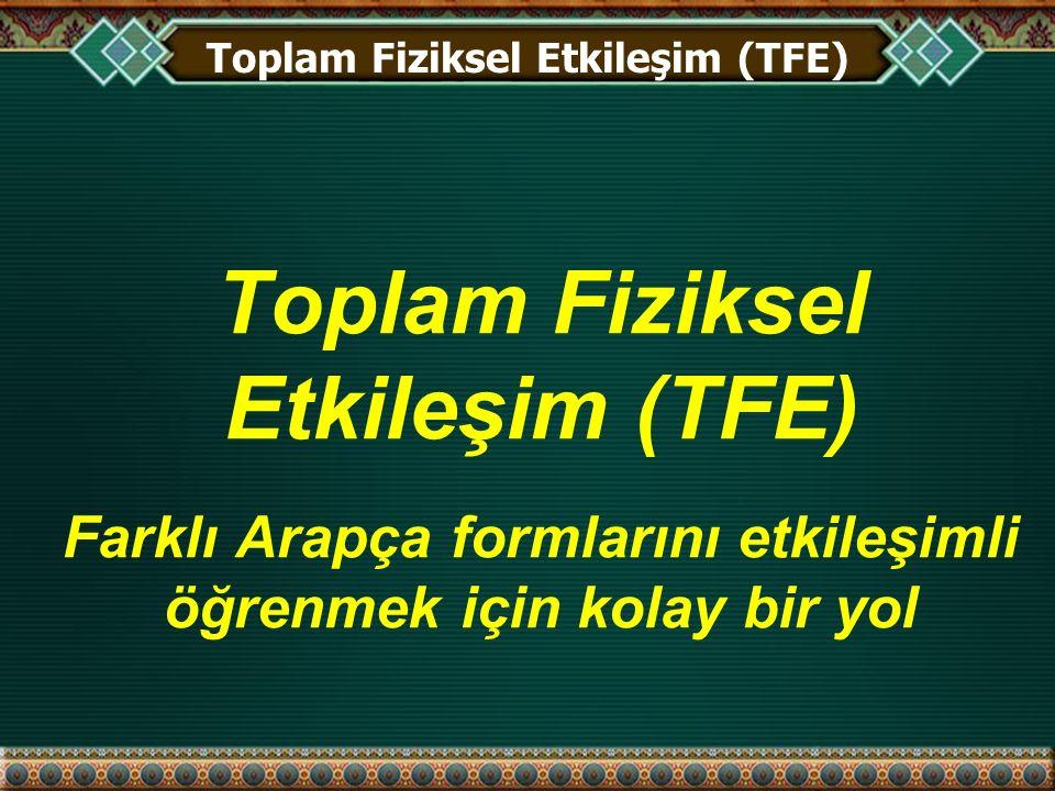 TFE'yi Kullanmak!!.
