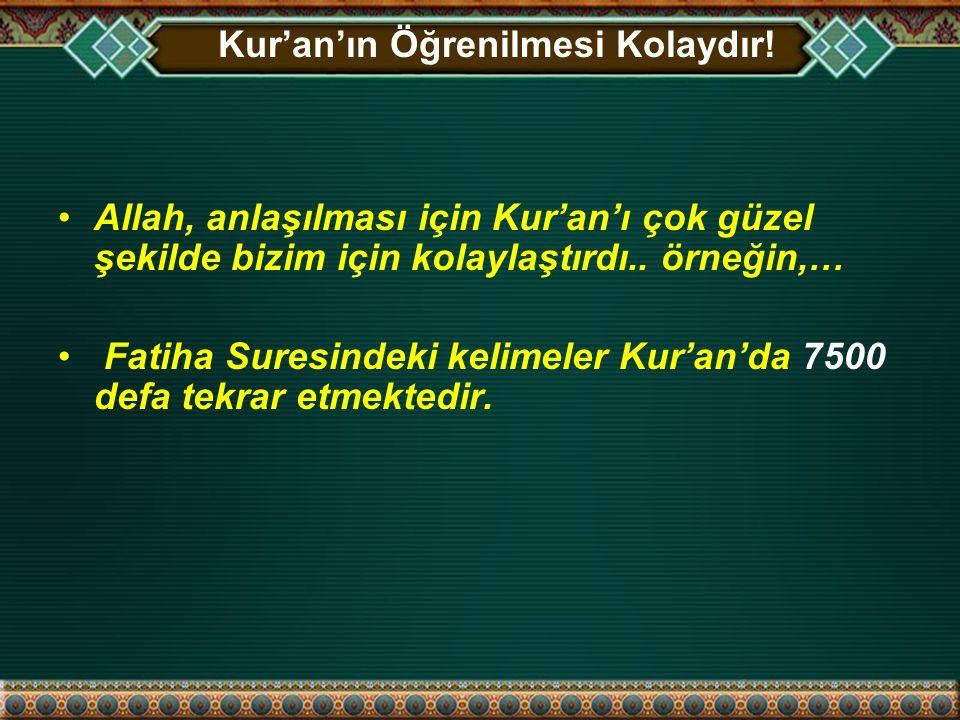 Kur'an'ın Öğrenilmesi Kolaydır.1.