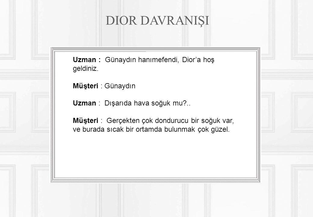 Uzman : Günaydın hanımefendi, Dior'a hoş geldiniz.
