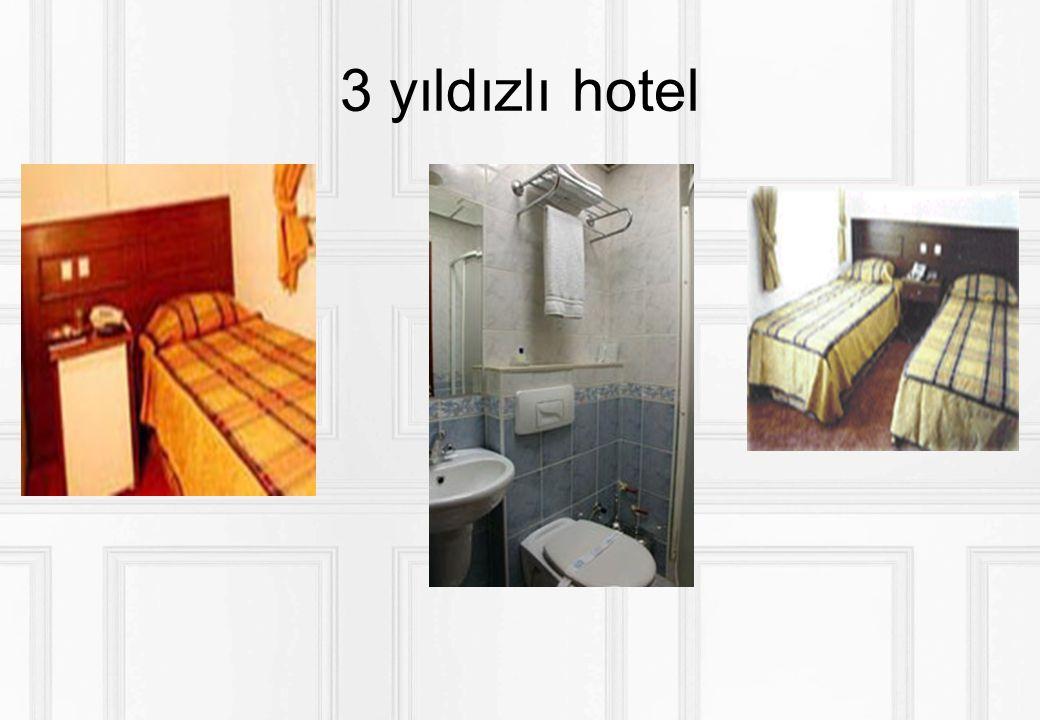 3 yıldızlı hotel Servisler