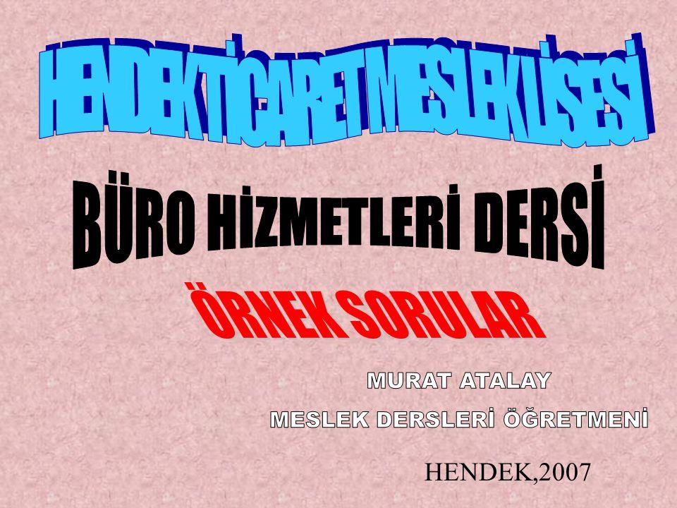 HENDEK,2007