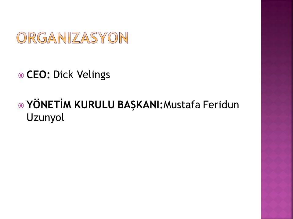  CEO: Dick Velings  YÖNETİM KURULU BAŞKANI:Mustafa Feridun Uzunyol