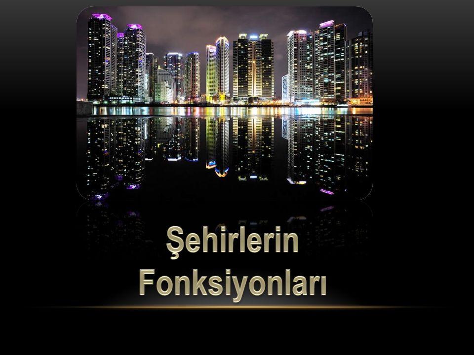 Şehirlerin gelişmesinde önemli paya sahip olan faali yet türü o şehrin asıl fonksiyonunu belirler.