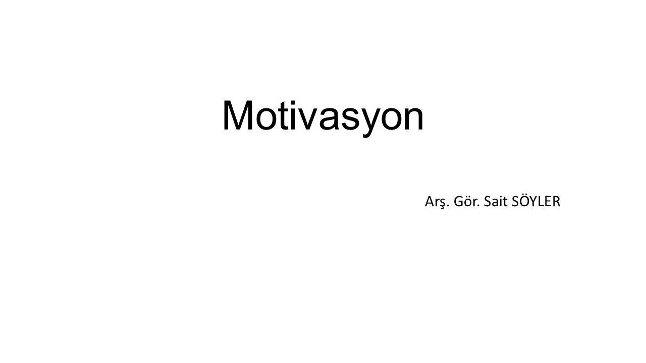 Motivasyon Kavramı Motivasyon kavramı hareket etmek, harekete geçmek anlamına gelen Latince «Movere» kelimesinden türetilmiştir.