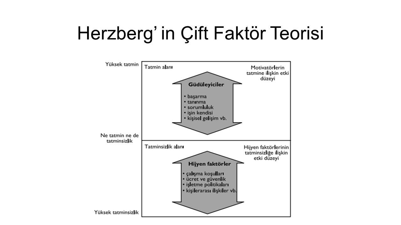 Herzberg' in Çift Faktör Teorisi