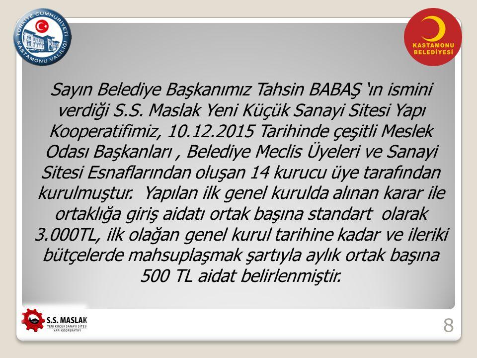 Sayın Belediye Başkanımız Tahsin BABAŞ 'ın ismini verdiği S.S.
