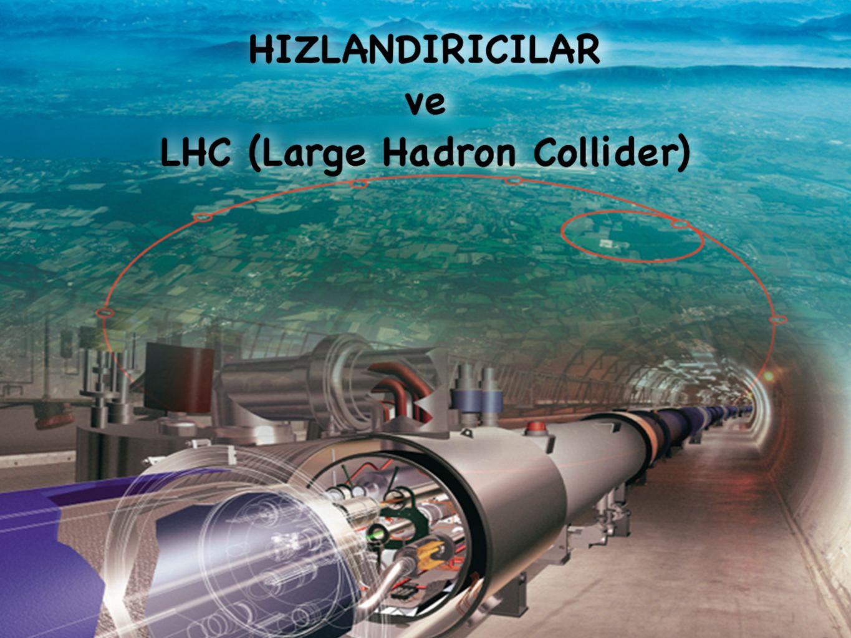 12 Parçacık hızlandırıcıları Elektrik alanlar ile parçacıkların enerjisini Manyetik alanlar ile yönlerini kontrol eder.
