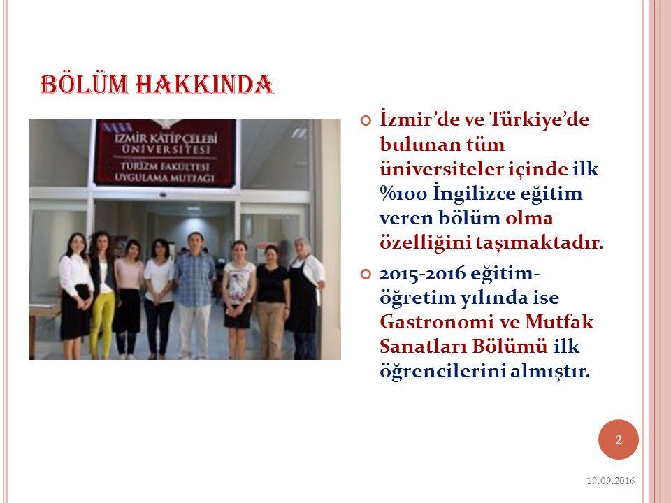 BÖLÜM HAKKINDA İzmir'de ve Türkiye'de bulunan tüm üniversiteler içinde ilk %100 İngilizce eğitim veren bölüm olma özelliğini taşımaktadır. 2015-2016 e