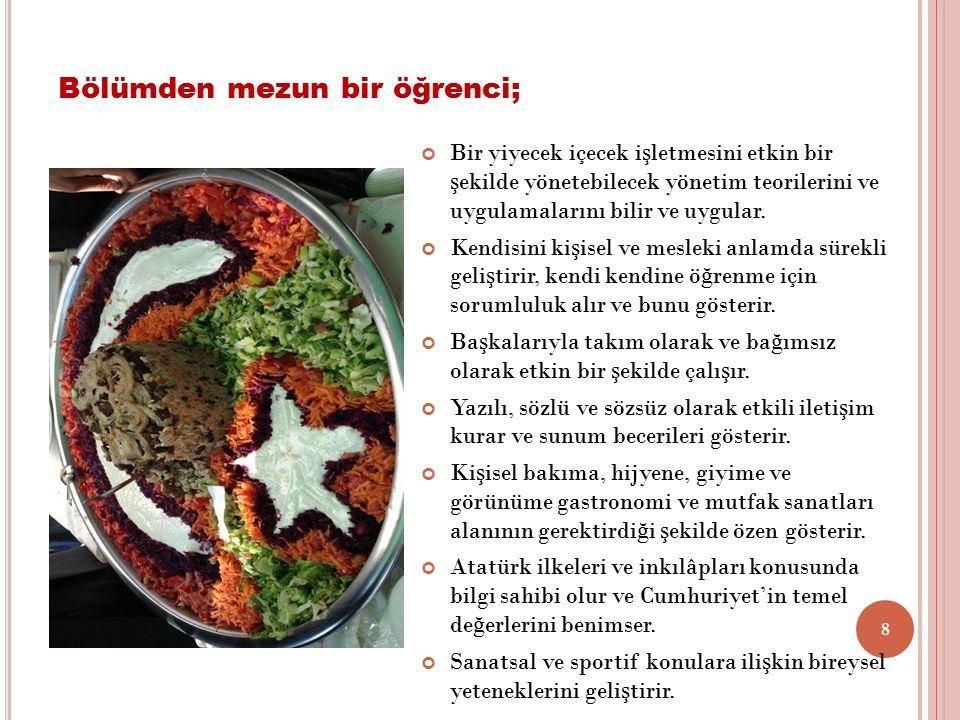 Turizm Fakültesi, Gastronomi ve Mutfak Sanatları Bölümü'nce 11.05.2016 tarihinde 3.