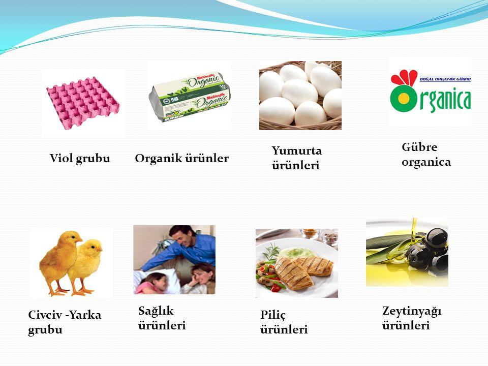 Viol grubuOrganik ürünler Yumurta ürünleri Gübre organica Civciv -Yarka grubu Sağlık ürünleri Piliç ürünleri Zeytinyağı ürünleri