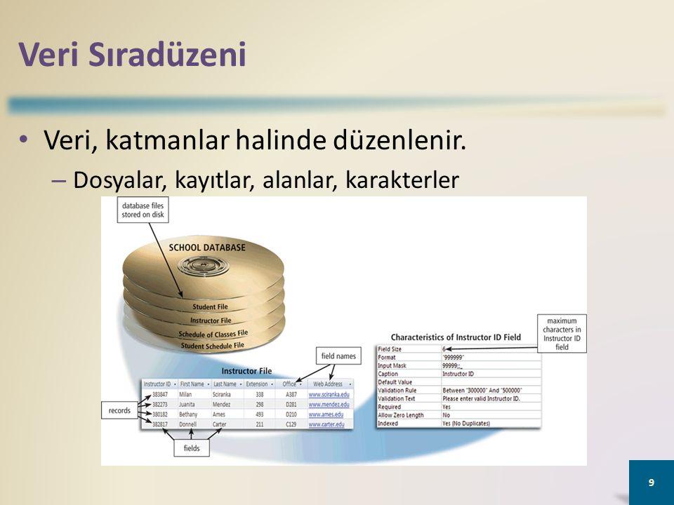 Veritabanı Yönetim Sistemleri 20