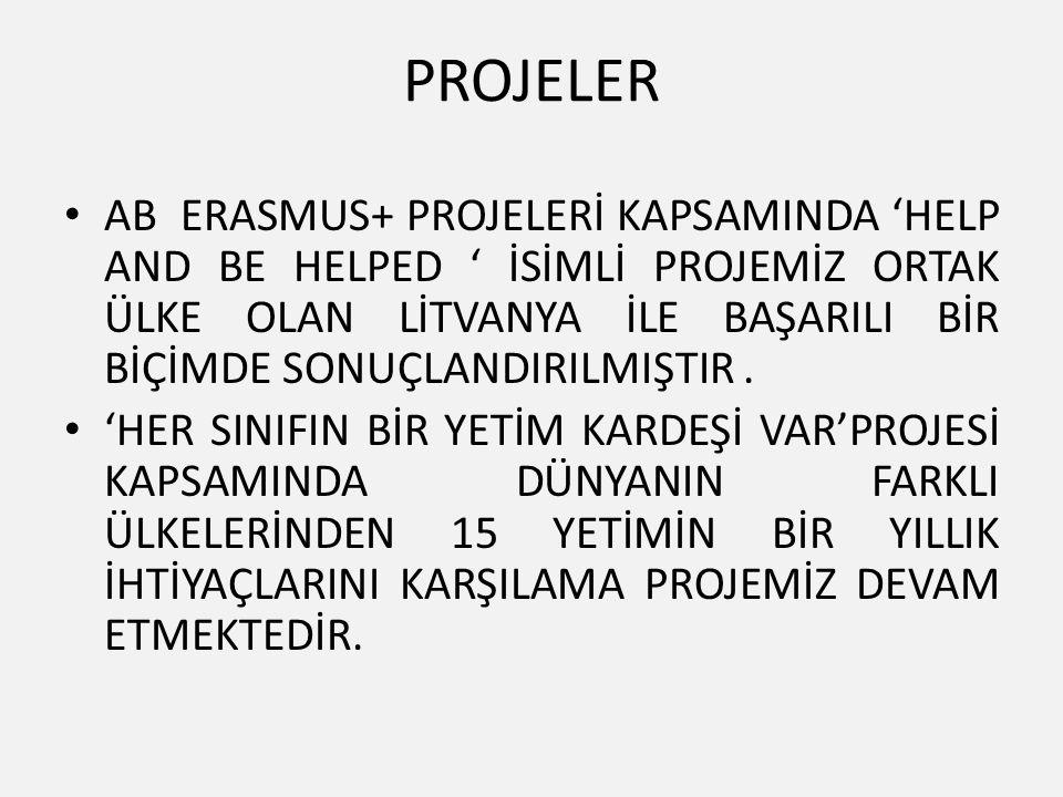 PROJELER AB ERASMUS+ PROJELERİ KAPSAMINDA 'HELP AND BE HELPED ' İSİMLİ PROJEMİZ ORTAK ÜLKE OLAN LİTVANYA İLE BAŞARILI BİR BİÇİMDE SONUÇLANDIRILMIŞTIR.