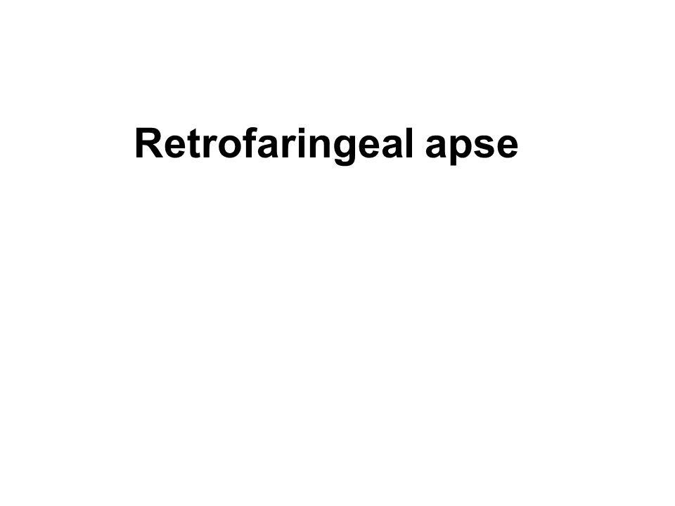 Retrofaringeal apse