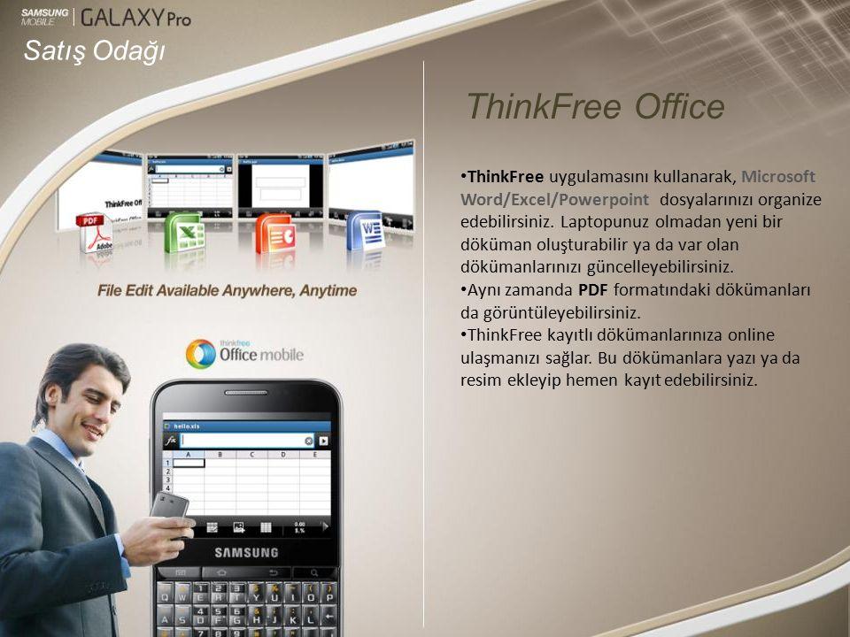 Satış Odağı ThinkFree uygulamasını kullanarak, Microsoft Word/Excel/Powerpoint dosyalarınızı organize edebilirsiniz.