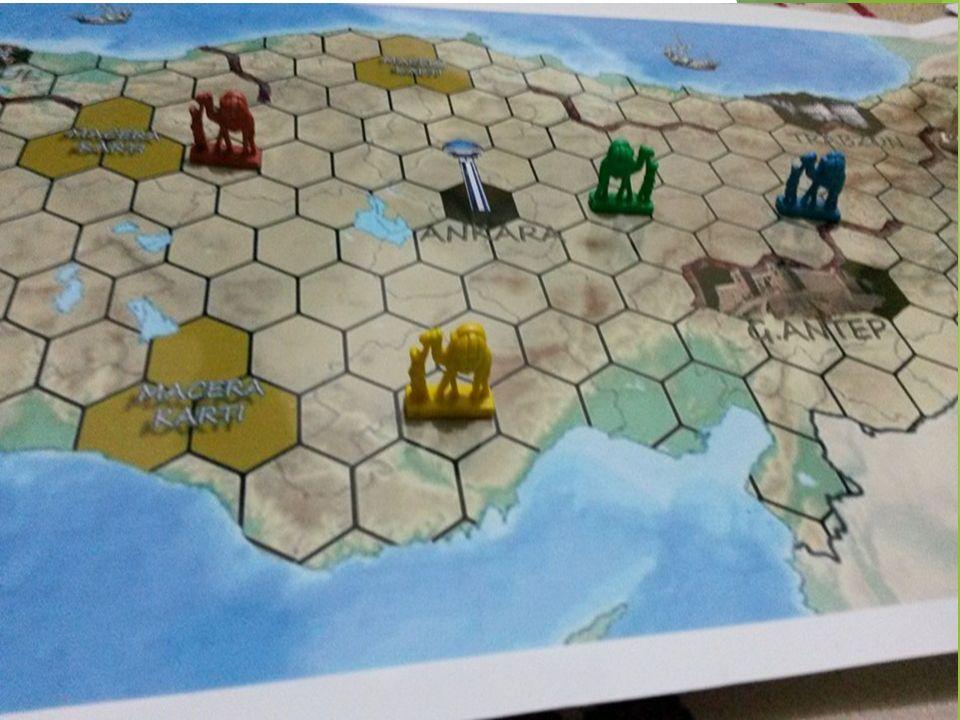  Birinci kuralımız her oyuncuya verdiğimiz bir deve ile her el üç altıgen ilerleyerek belirlediği bir şehre ulaşmaya çalışacaktır.