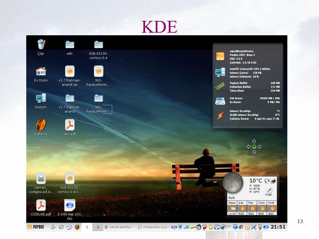 oguzy ~ comu.edu.tr13 KDE
