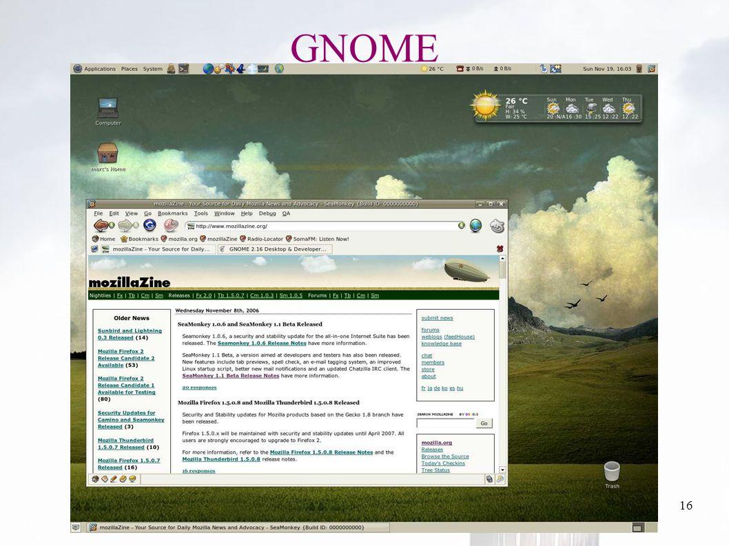 oguzy ~ comu.edu.tr16 GNOME
