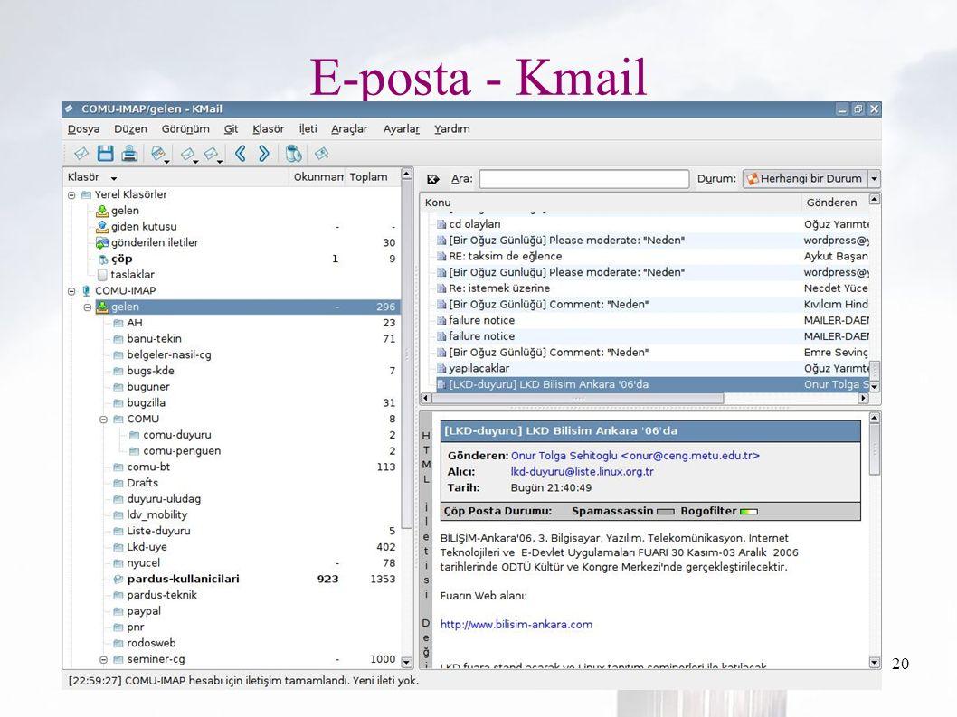 oguzy ~ comu.edu.tr20 E-posta - Kmail