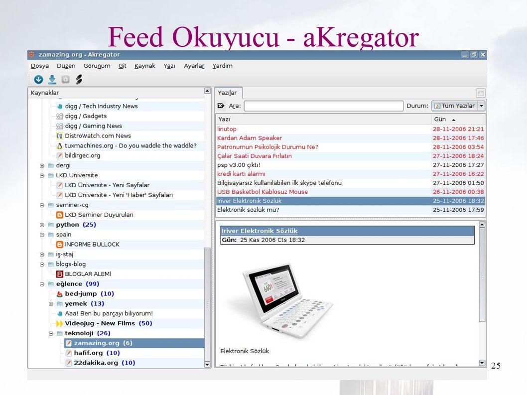 oguzy ~ comu.edu.tr25 Feed Okuyucu - aKregator