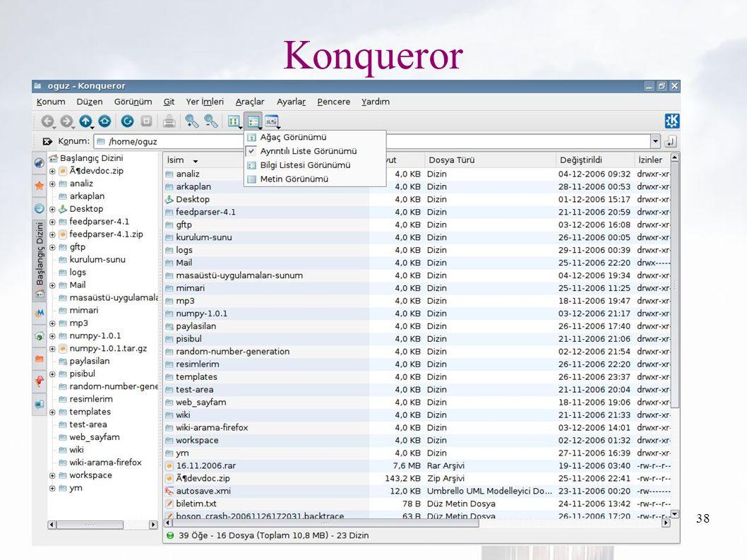 oguzy ~ comu.edu.tr38 Konqueror