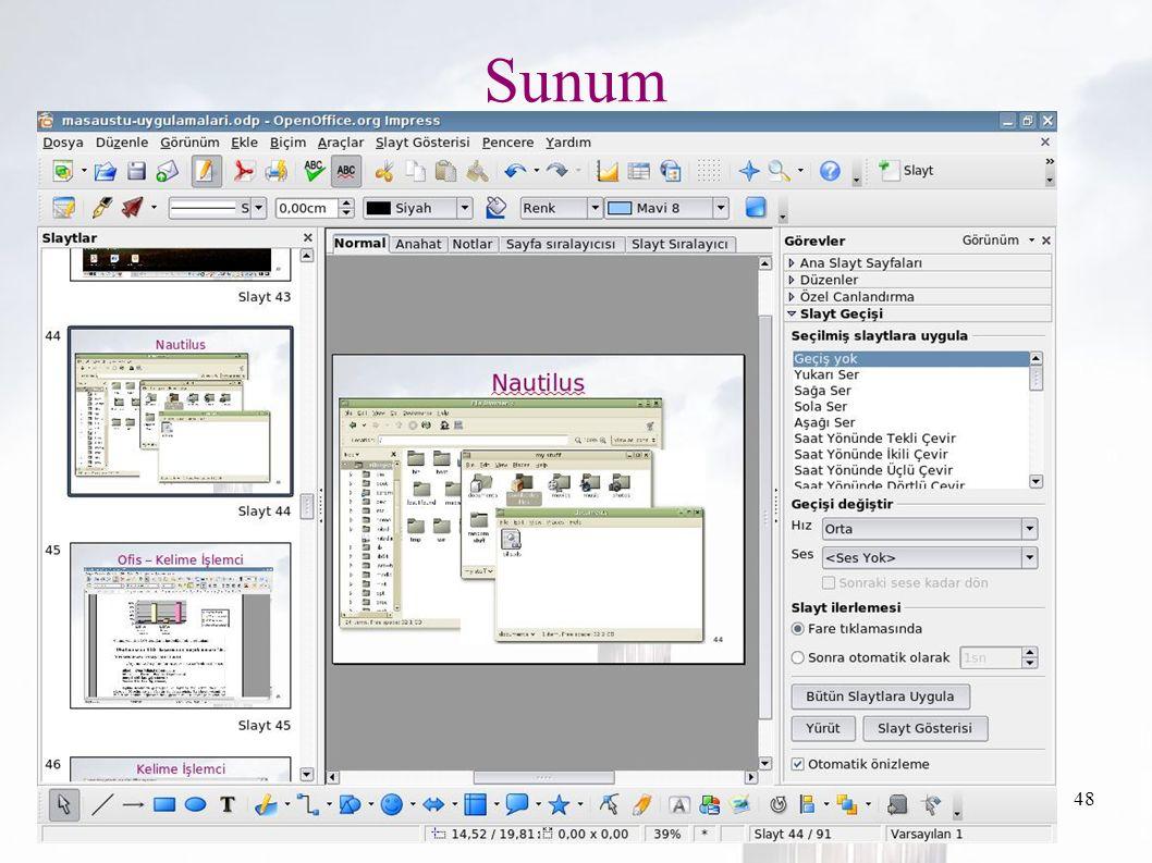 oguzy ~ comu.edu.tr48 Sunum