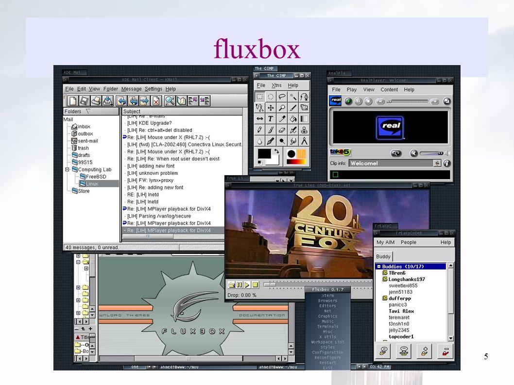 oguzy ~ comu.edu.tr5 fluxbox