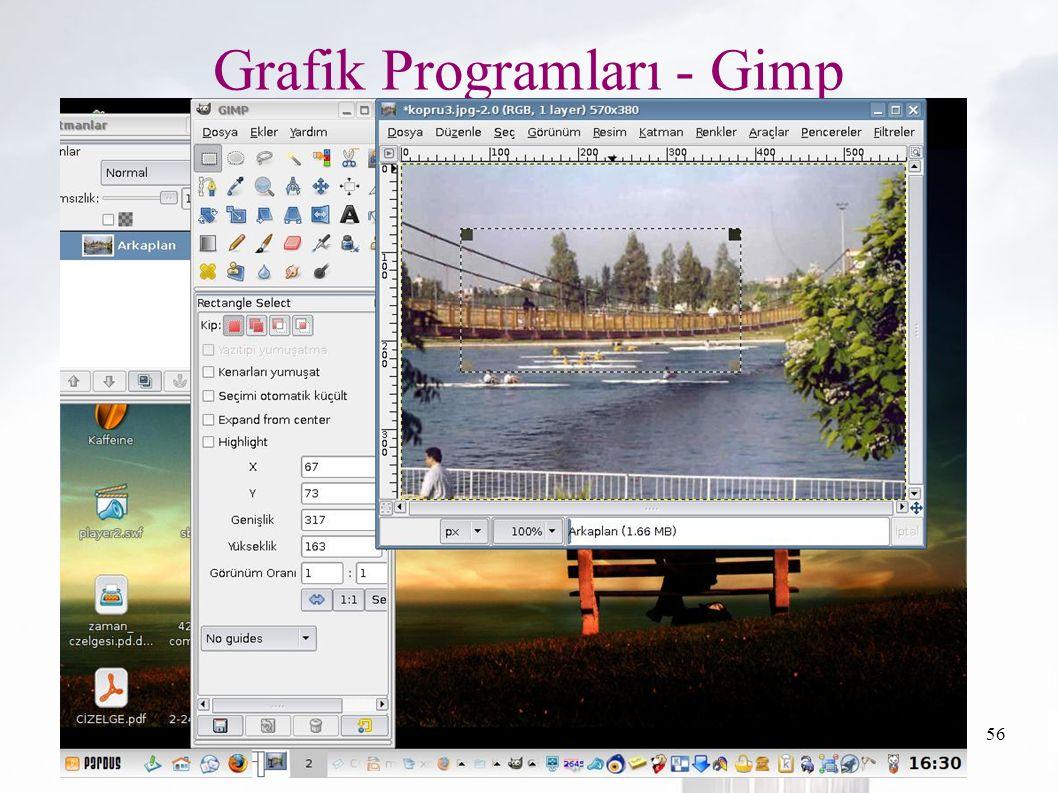 oguzy ~ comu.edu.tr56 Grafik Programları - Gimp