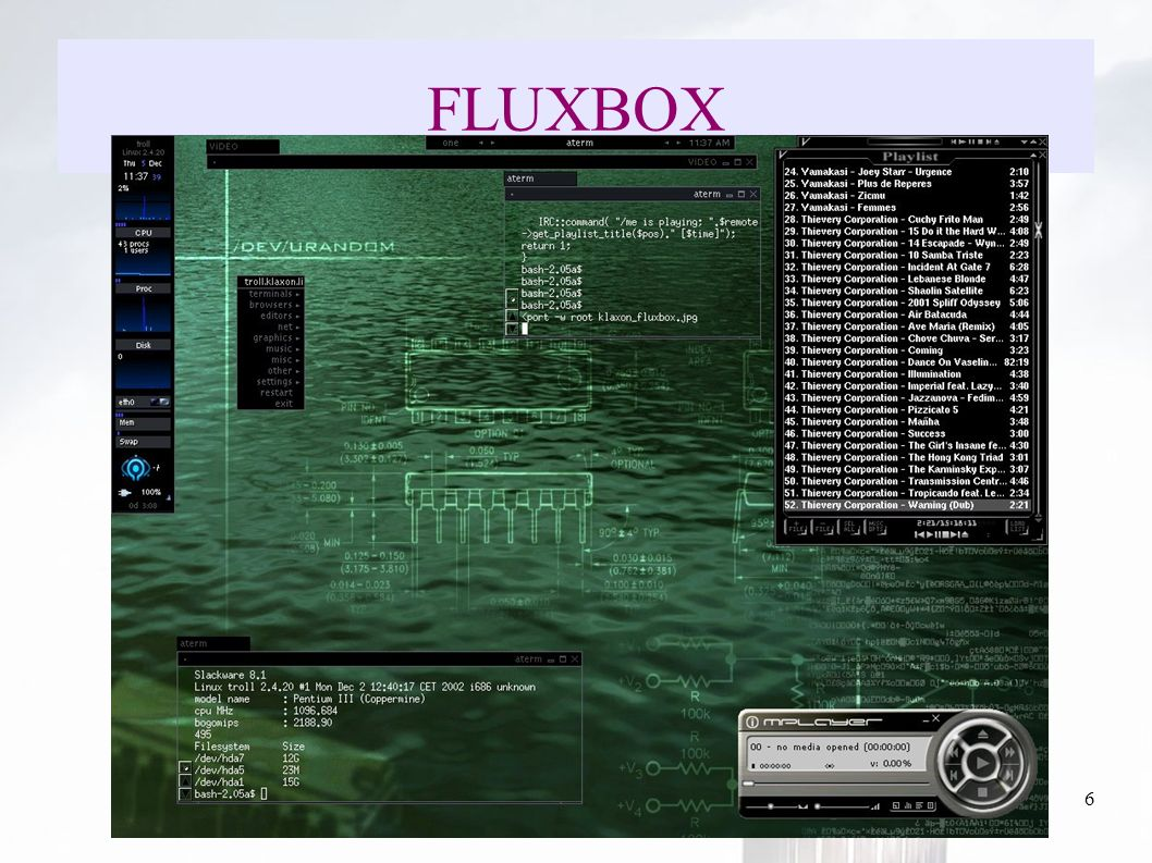 oguzy ~ comu.edu.tr6 FLUXBOX