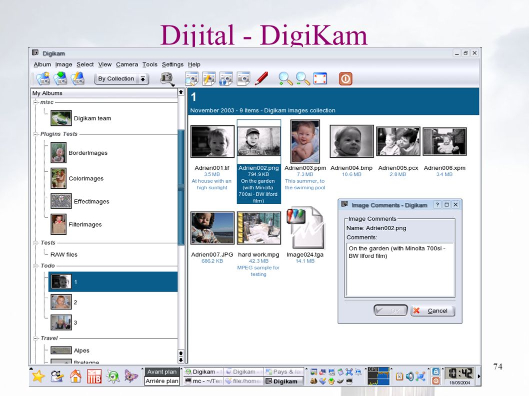 oguzy ~ comu.edu.tr74 Dijital - DigiKam