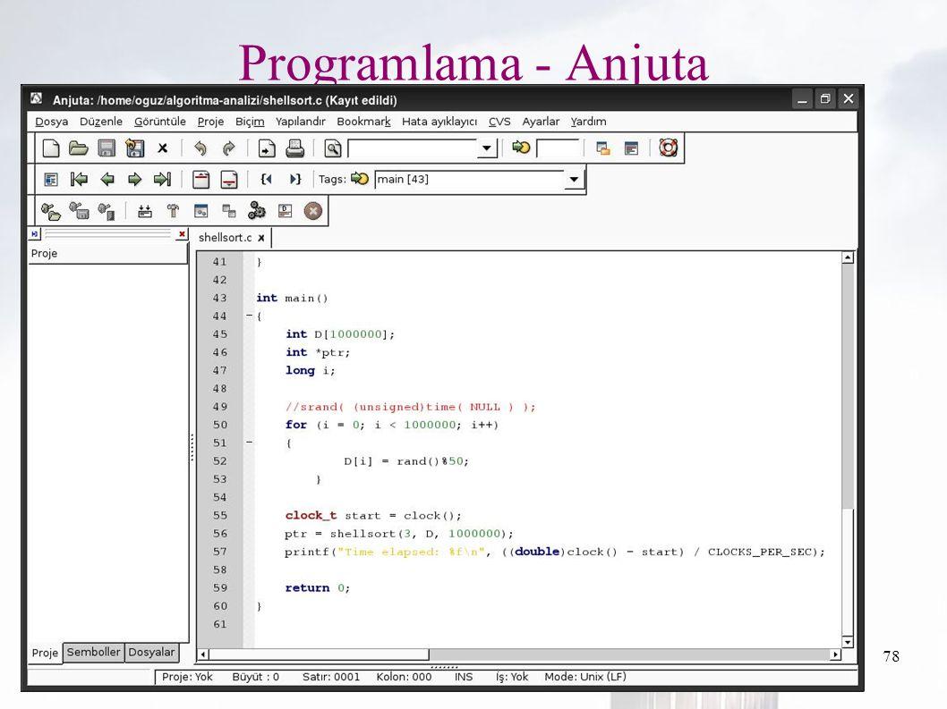 oguzy ~ comu.edu.tr78 Programlama - Anjuta