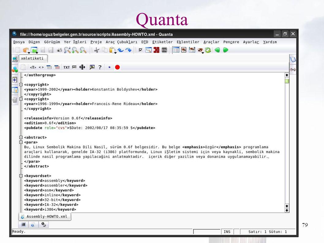 oguzy ~ comu.edu.tr79 Quanta