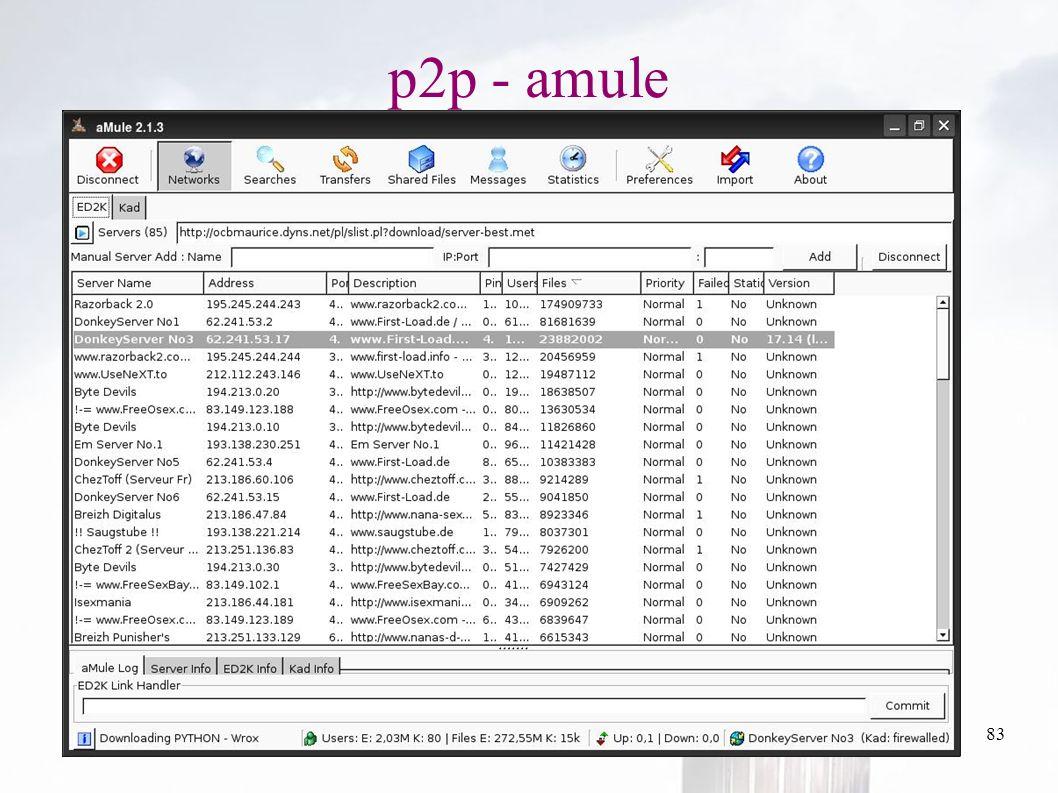 oguzy ~ comu.edu.tr83 p2p - amule