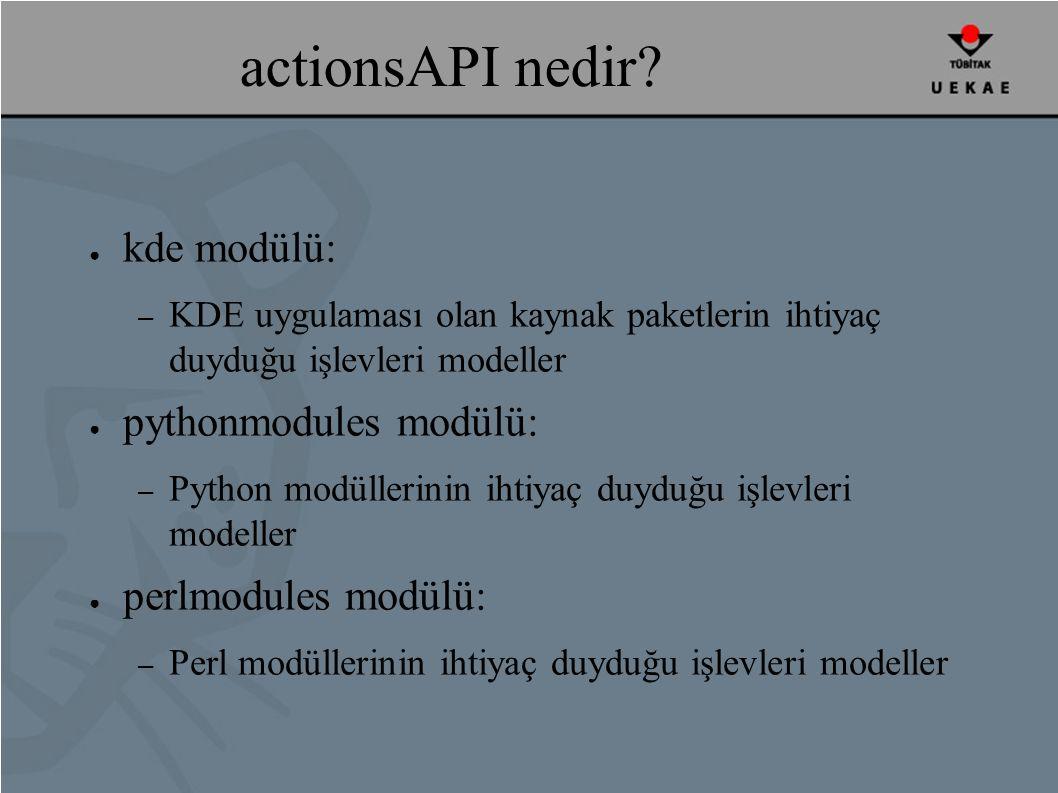 actionsAPI nedir.