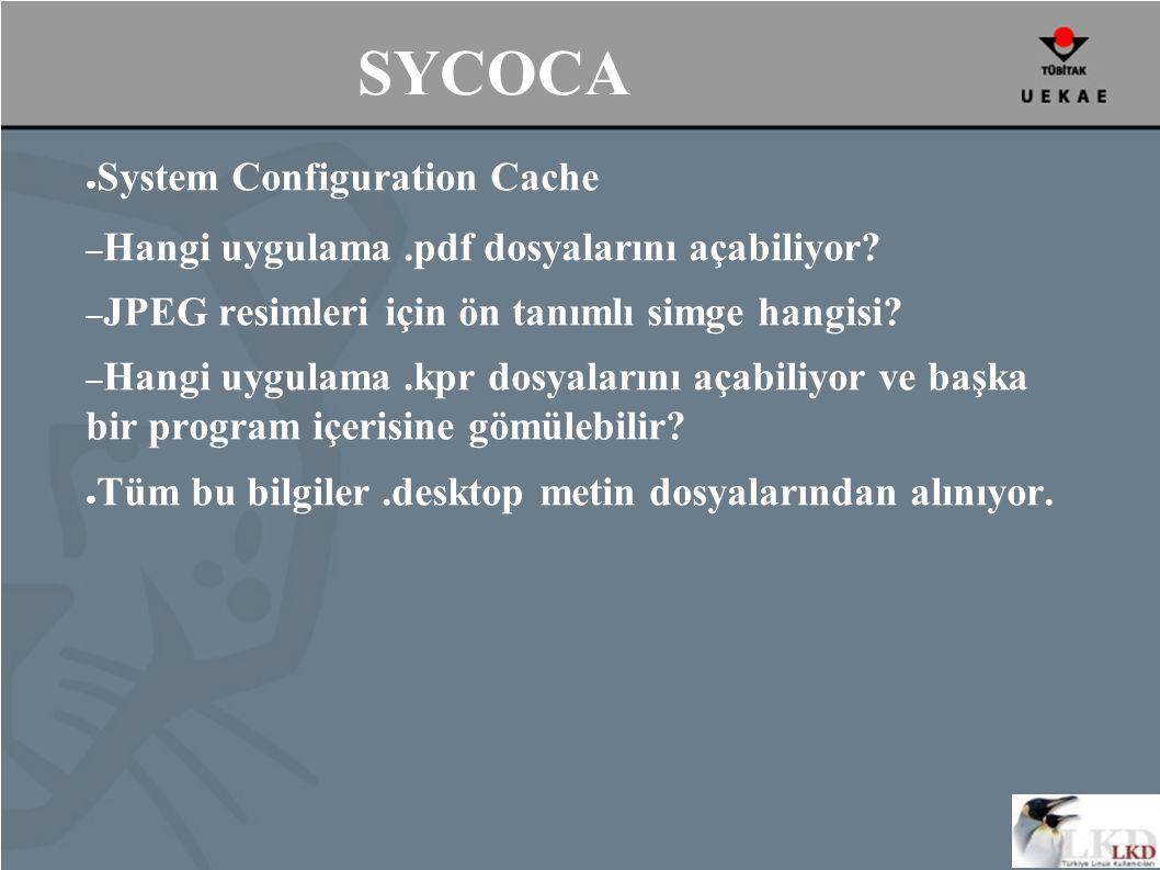 SYCOCA ● System Configuration Cache – Hangi uygulama.pdf dosyalarını açabiliyor.