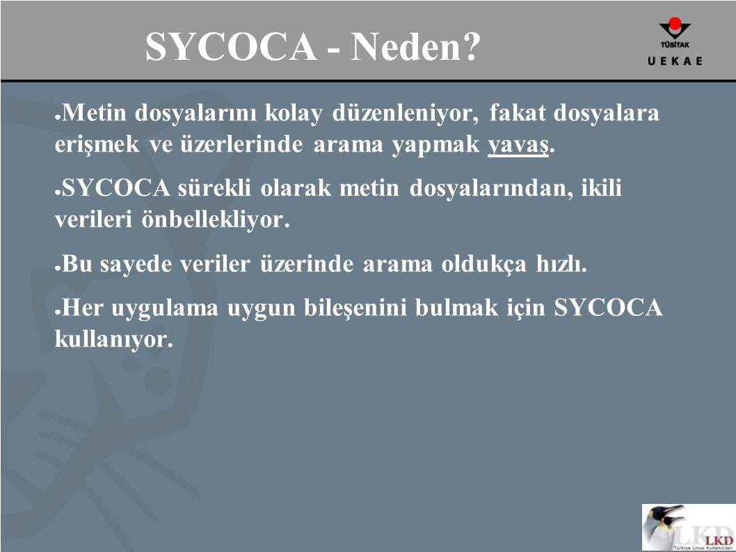 SYCOCA - Neden.