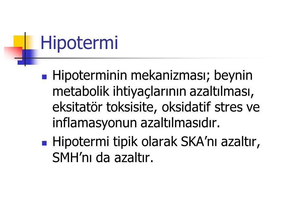 Hipotermi Hipoterminin mekanizması; beynin metabolik ihtiyaçlarının azaltılması, eksitatör toksisite, oksidatif stres ve inflamasyonun azaltılmasıdır.