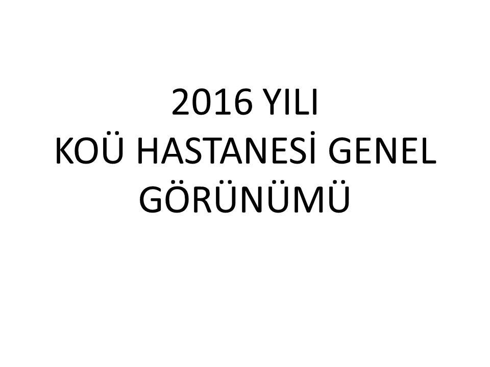 2016 YILI KOÜ HASTANESİ GENEL GÖRÜNÜMÜ