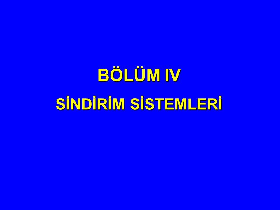 BÖLÜM IV SİNDİRİM SİSTEMLERİ