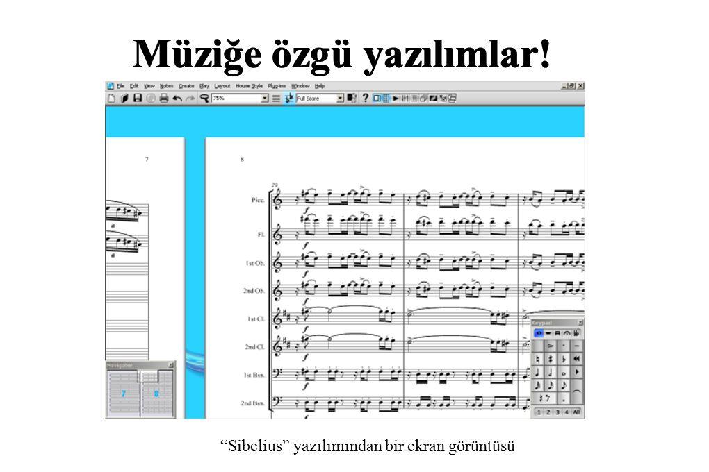 """Müziğe özgü yazılımlar! """"Sibelius"""" yazılımından bir ekran görüntüsü"""