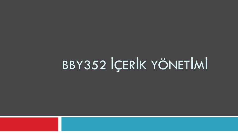 BBY352 İ ÇER İ K YÖNET İ M İ