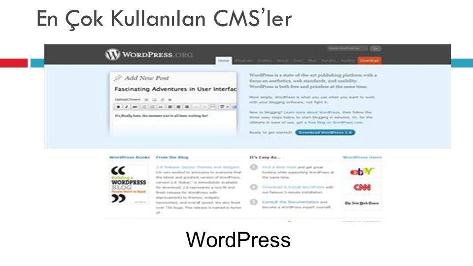 En Çok Kullanılan CMS'ler WordPress