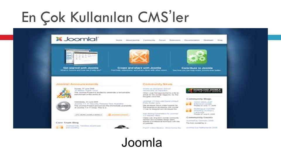 En Çok Kullanılan CMS'ler Joomla