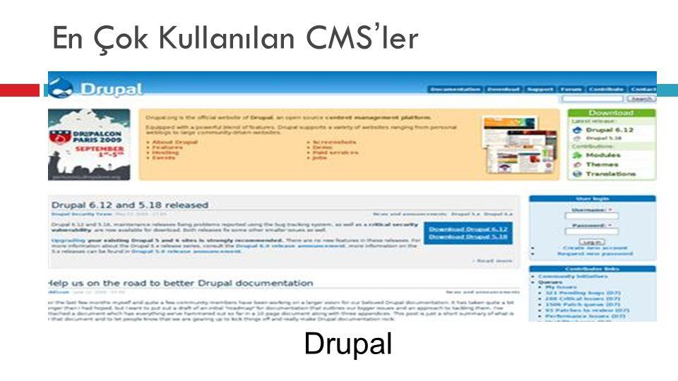 En Çok Kullanılan CMS'ler Drupal