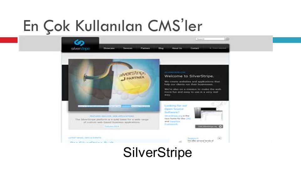 En Çok Kullanılan CMS'ler SilverStripe