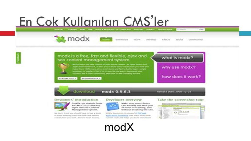 En Çok Kullanılan CMS'ler modX